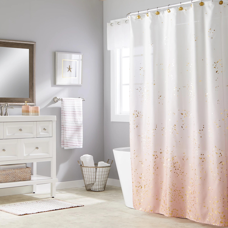 skl home splatter fabric shower curtain pink 70 x 72 walmart com