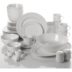 Kitchen China Dishes Pantry Ikea Dinnerware Set 46 Piece Plates Bowls Serveware Gibson Home