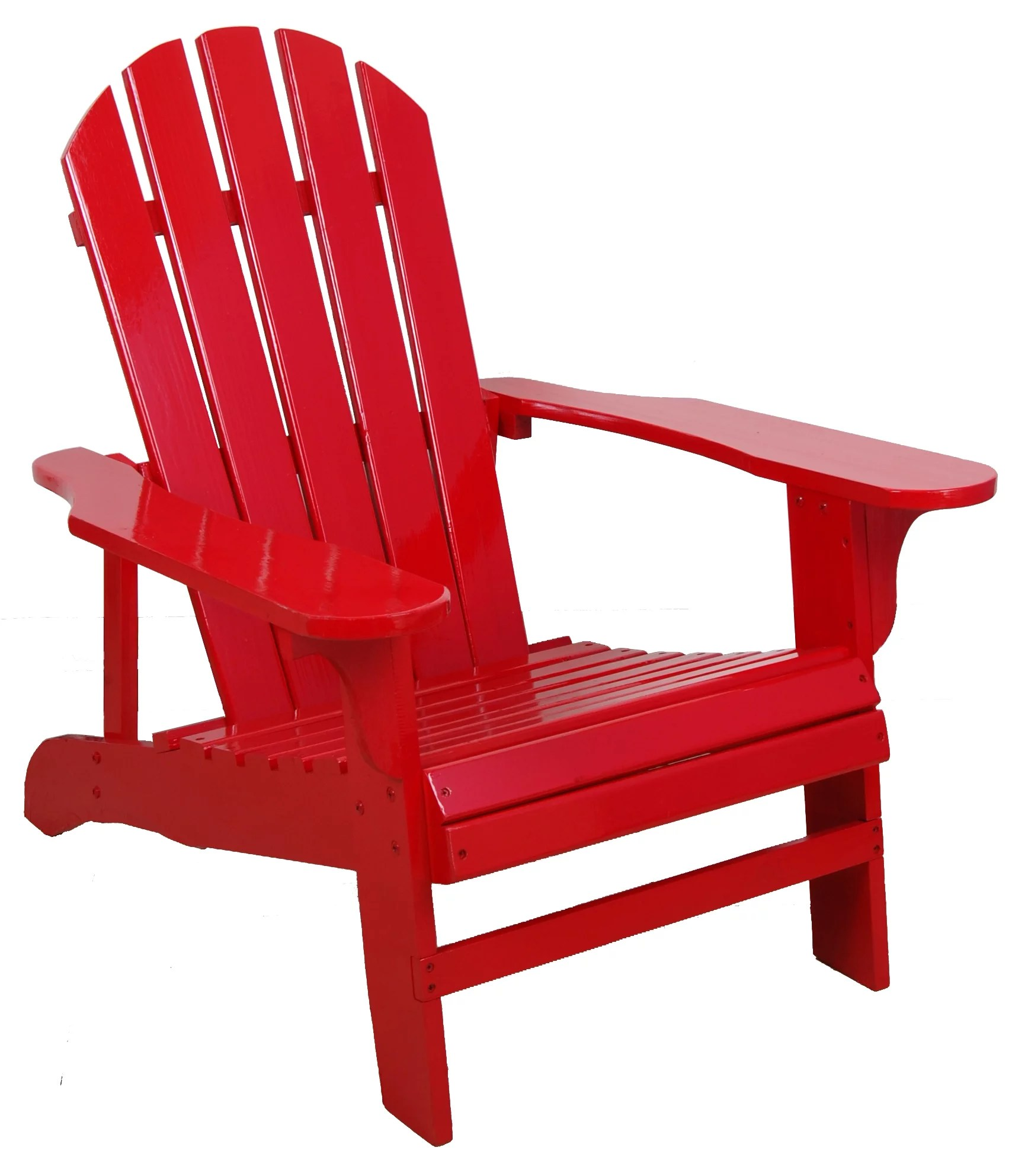 Red Adirondack Chairs Leigh Country Red Adirondack Chair Walmart