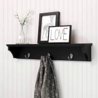 White Decorative Shelf With Hooks | Billingsblessingbags.org