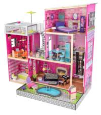 KidKraft Uptown Wooden Dollhouse With 35 Pieces of ...
