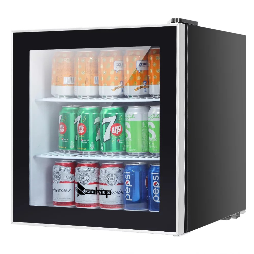 mini fridge portable 1 6cu ft mini refrigerator stand small beer fridge refrigerator with glass door small beverage cooler for home office bedroom