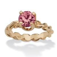 Round Birthstone 10k Gold Baby Ring Charm - Walmart.com
