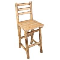 "Rush Creek Creations Rustic Bar/Pub Chair - 47"" - Walmart.com"