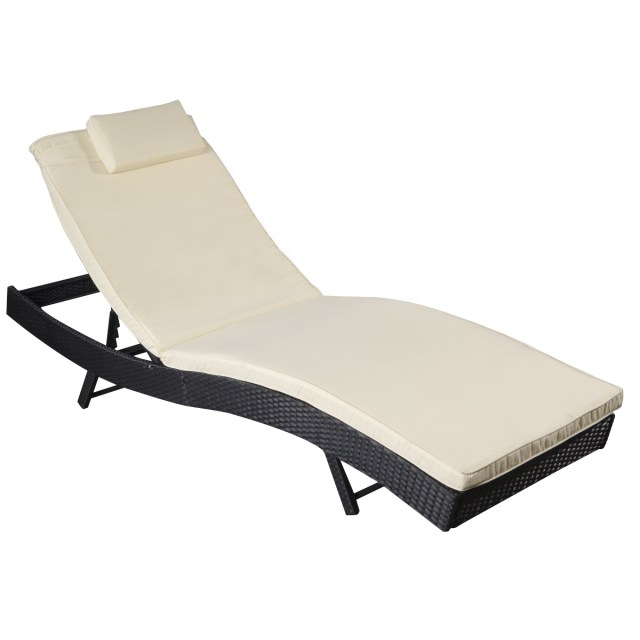 costway adjustable pool chaise lounge chair outdoor patio furniture