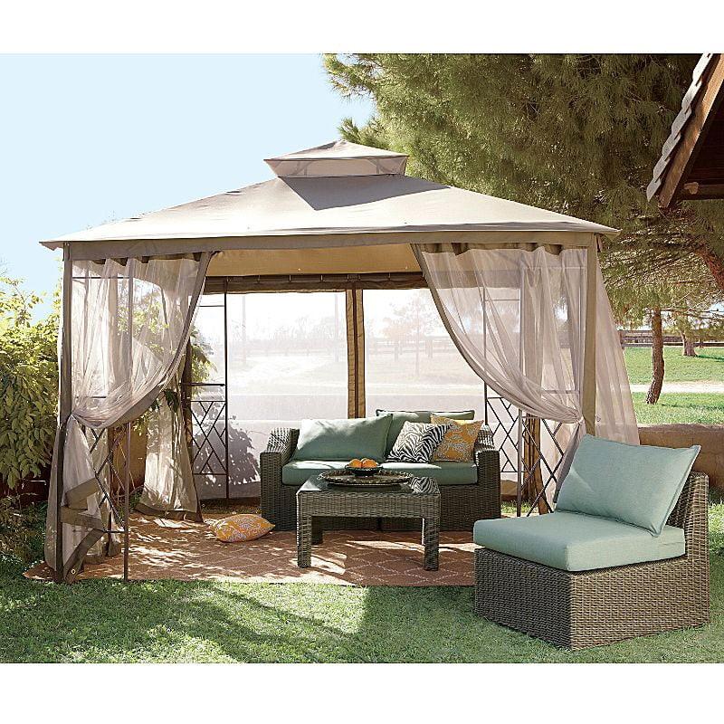 garden winds replacement canopy top for jcp bamboo gazebo riplock 350 walmart com
