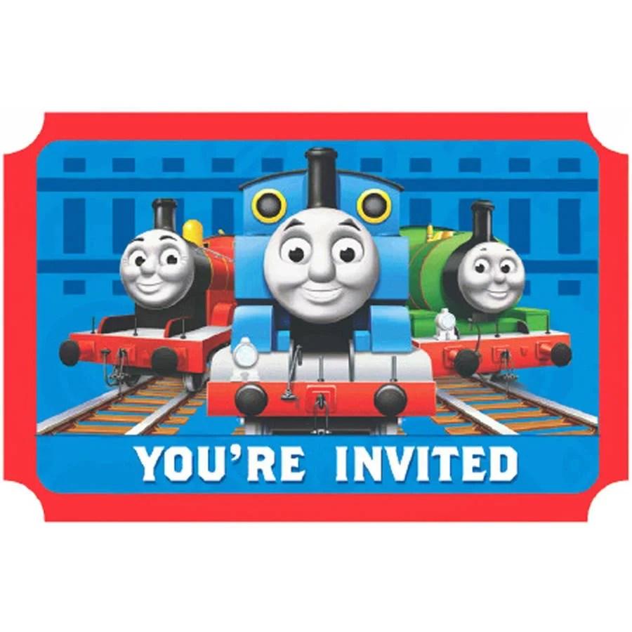 thomas the train invitations 8pk walmart com