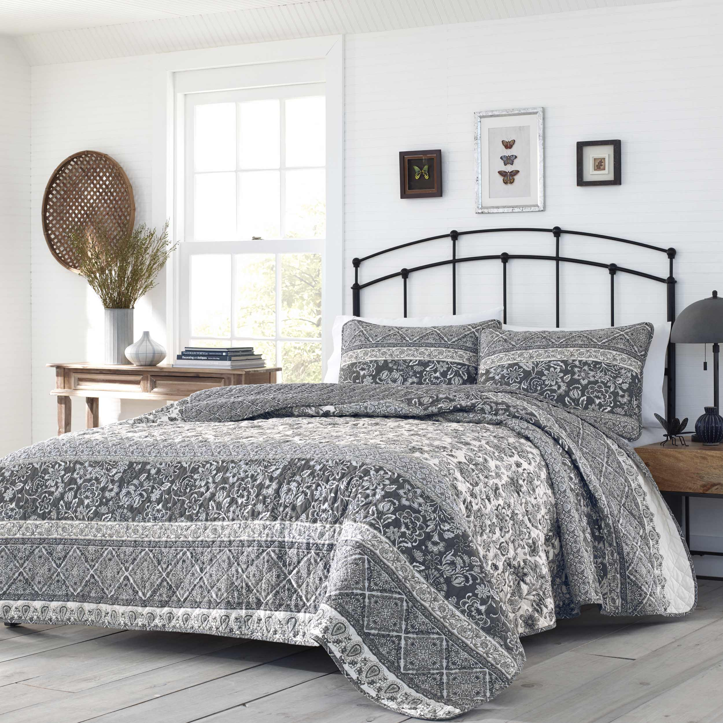 stone cottage abbey grey quilt set full queen