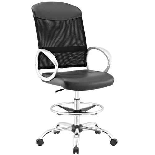 mesh drafting chair stand desk orren ellis guzzi ergonomic walmart com