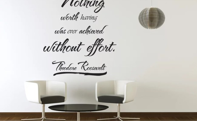 Vinyl Wall Art Theodore Roosevelt Quote Sticker Decal