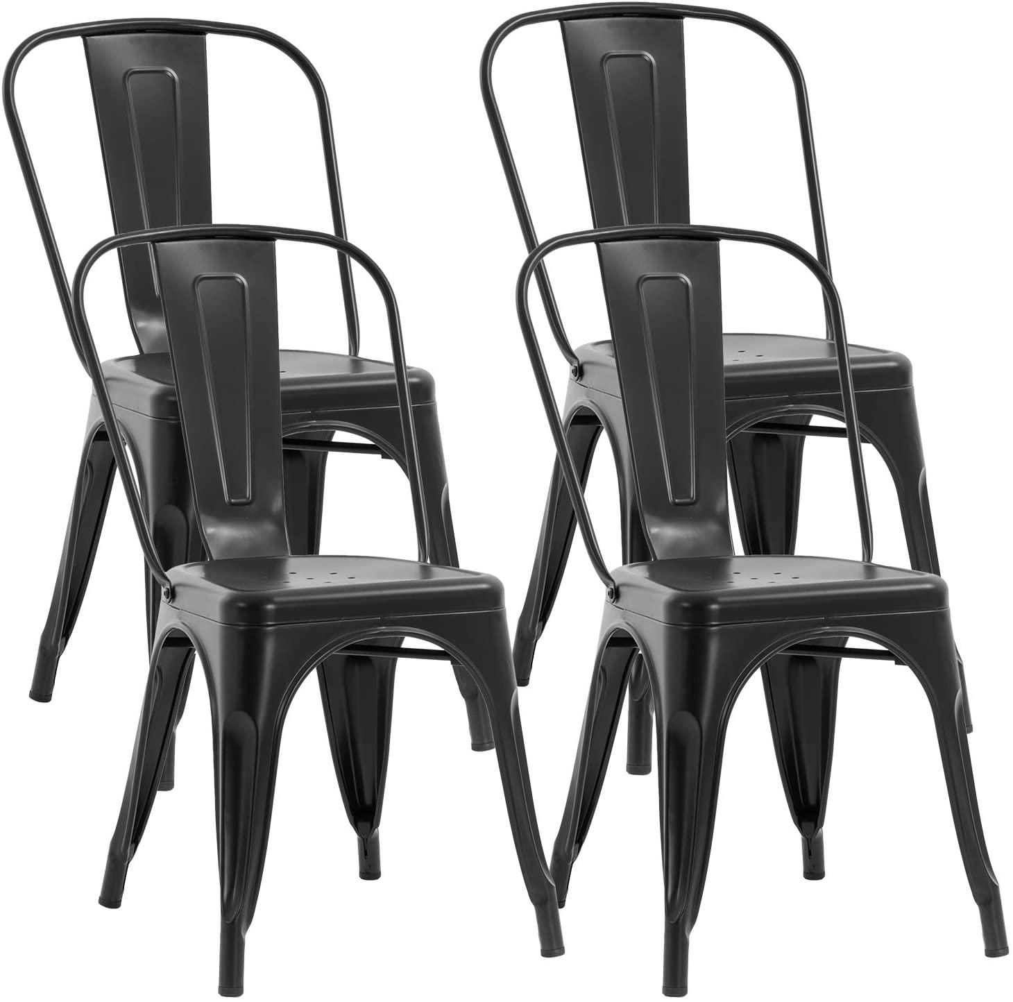 metal chair dining chairs set of 4 patio chair 18 inches seat height dining room kitchen chair tolix restaurant chairs trattoria bar stackable chairs