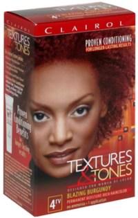Clairol Textures & Tones 4RV Blazing Burgundy, 1 ea (Pack ...