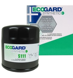 ecogard s111 spin on engine oil filter for synthetic oil premium replacement fits buick lesabre century regal park avenue rendezvous lacrosse  [ 1000 x 1000 Pixel ]