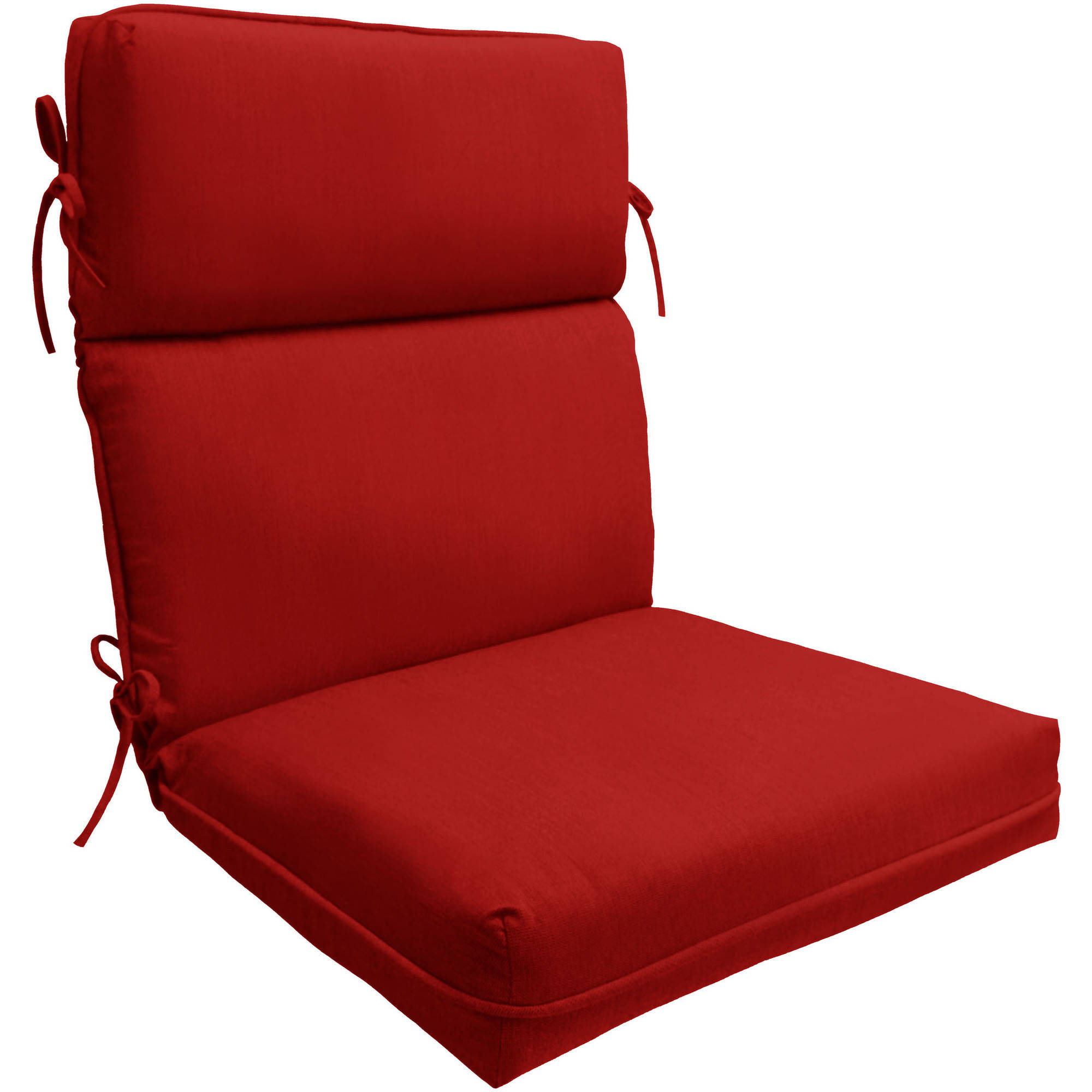 better homes and gardens sun valley 1 piece high back chair outdoor cushion red 21 x 44 x 4 75