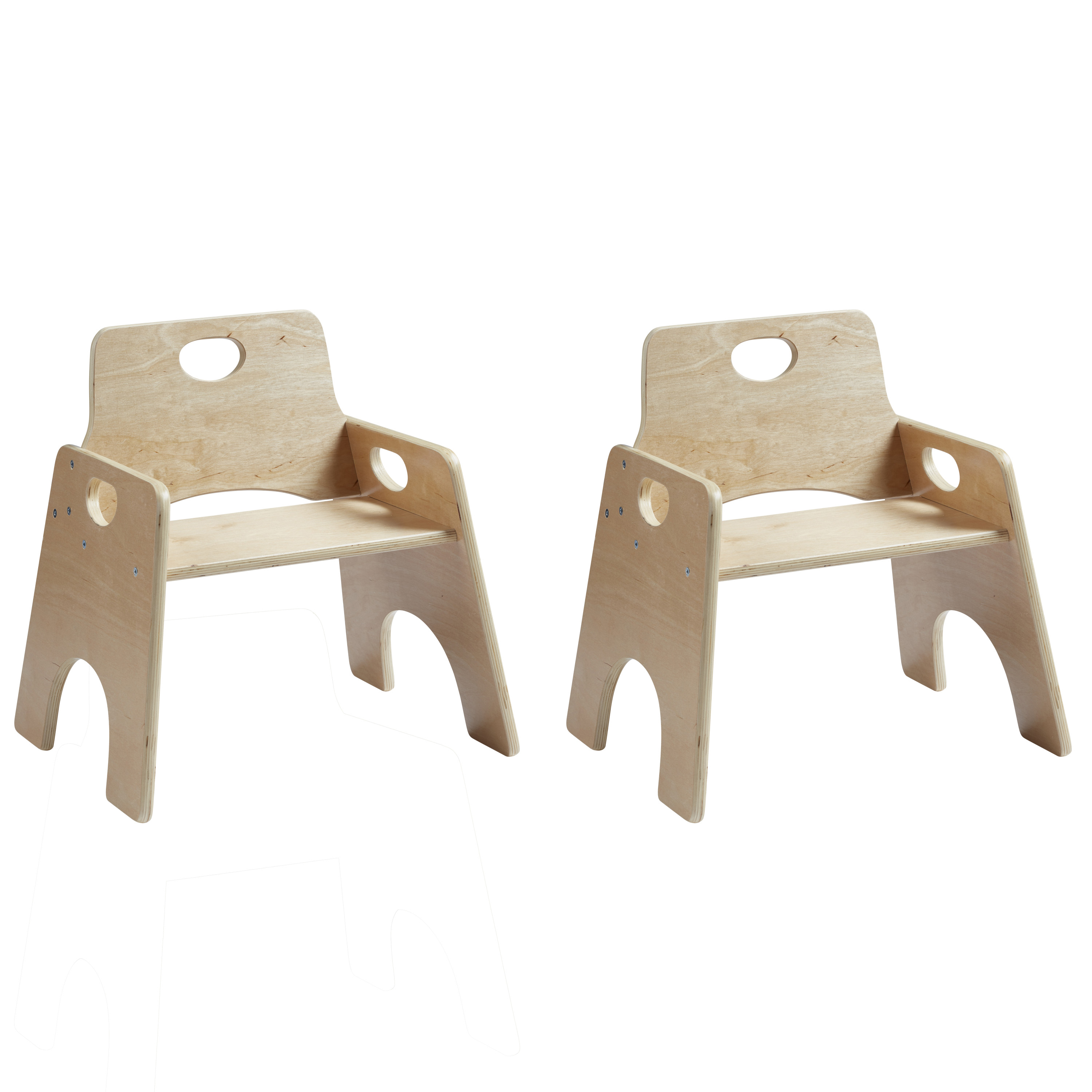 Toddler Wooden Chair Ecr4kids 10in Stackable Wooden Toddler Chair Ready To Assemble