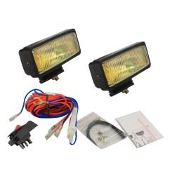 pilot automotive nv 104 2 x 6 h3 55 watt amber fog lights size 6 1 8 l x 2 1 4 x 2 1 8 walmart com [ 1500 x 1500 Pixel ]
