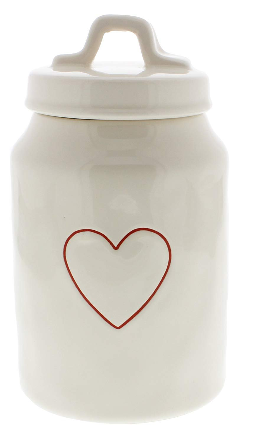 rae dunn magenta red heart valentines canister