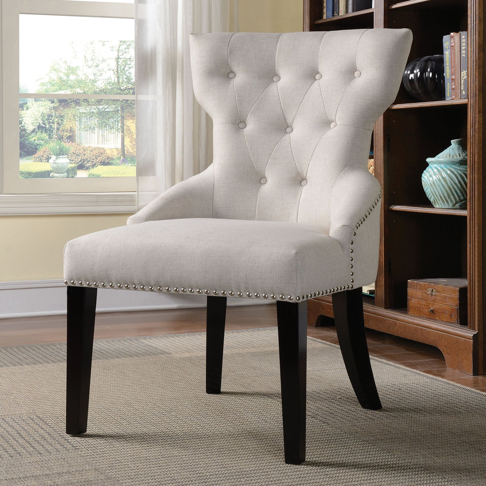 Coaster Accent Chair Coaster Company Traditional Accent Chair Cream