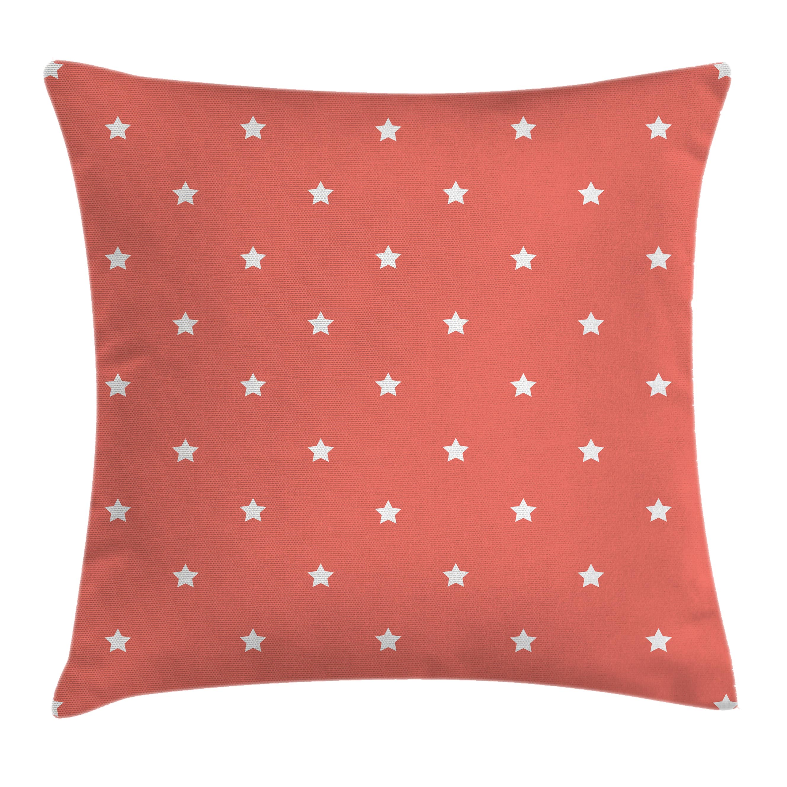 Coral Throw Pillow Cushion Cover Minimalist Neat Star on