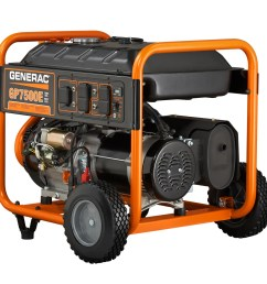 generac 5943 7500 watt electric start portable generator 49 state csa walmart com [ 1200 x 1200 Pixel ]
