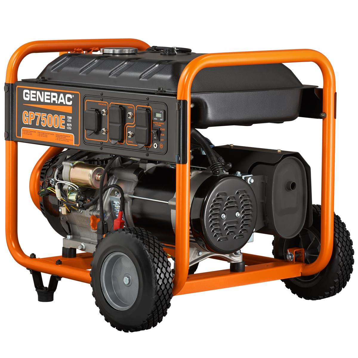 hight resolution of generac 5943 7500 watt electric start portable generator 49 state csa walmart com