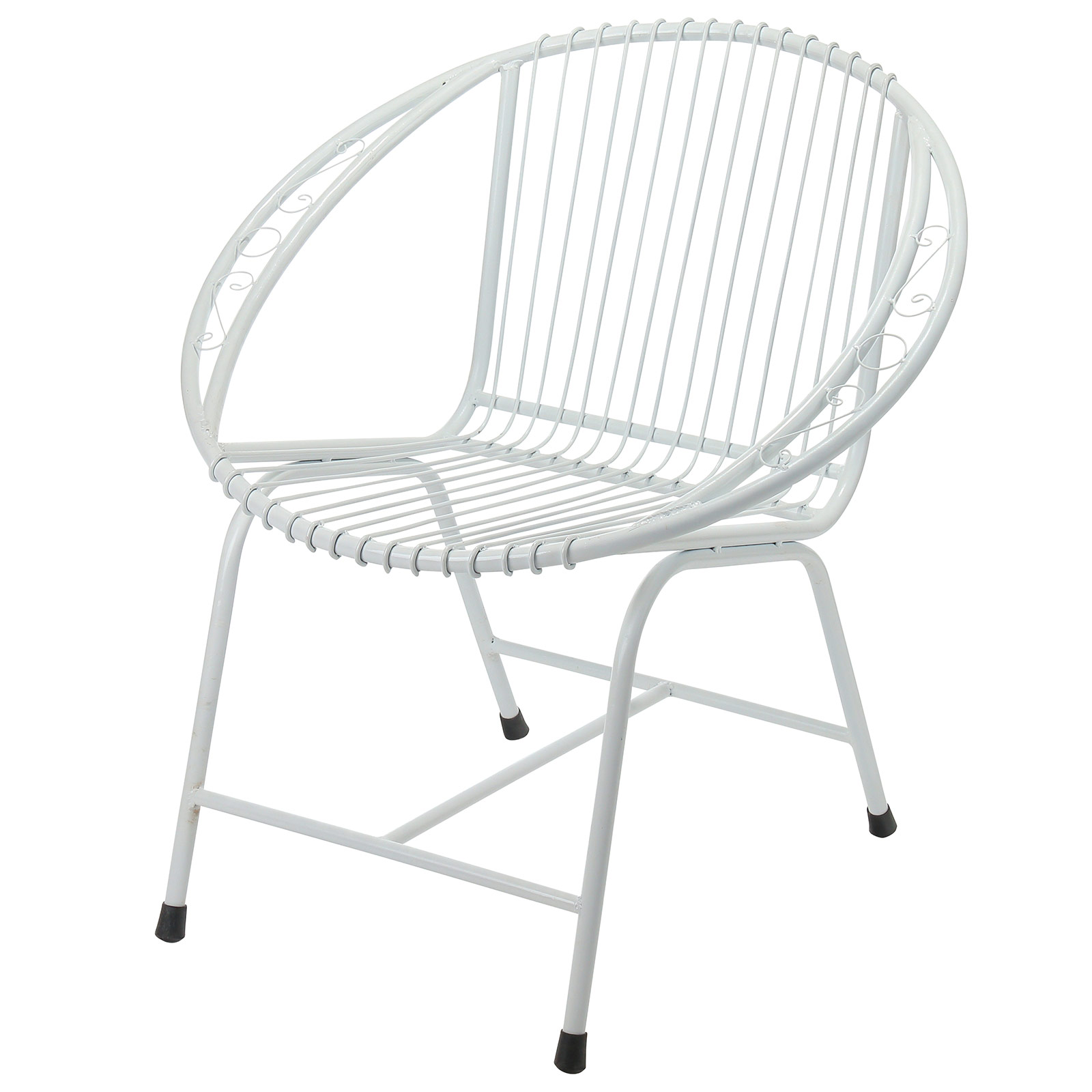 Veranda Metal Wire Chair White Filigree