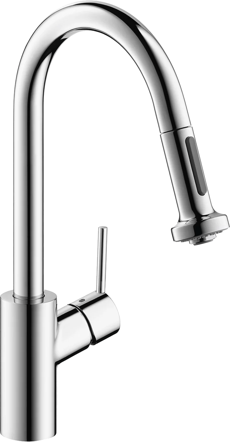 hansgrohe talis s higharc kitchen faucet 2 spray pull down 1 75 gpm in chrome