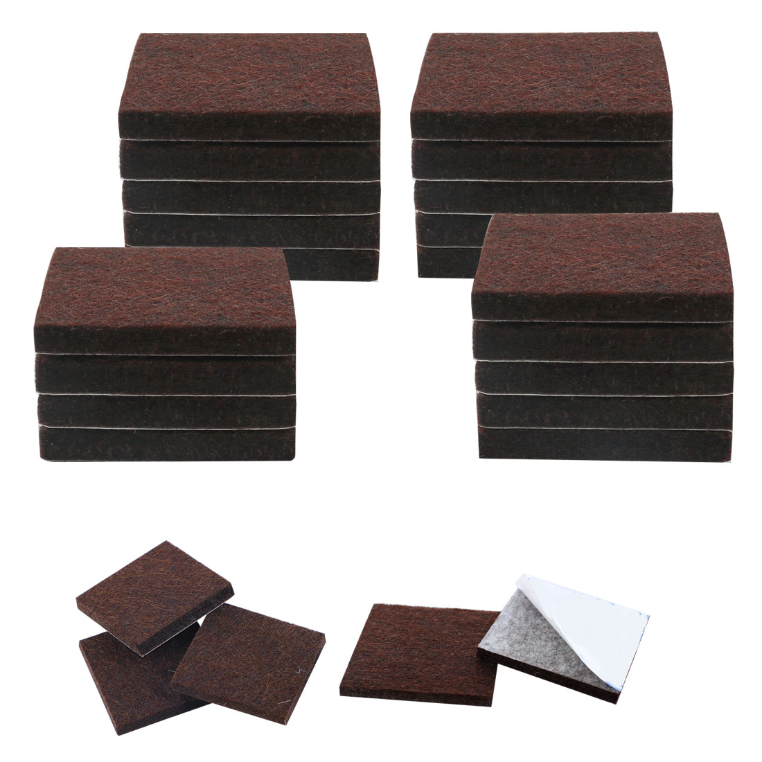 Felt Chair Pads 24pcs Felt Furniture Pads Square 3 4 Quot Floor Protector For