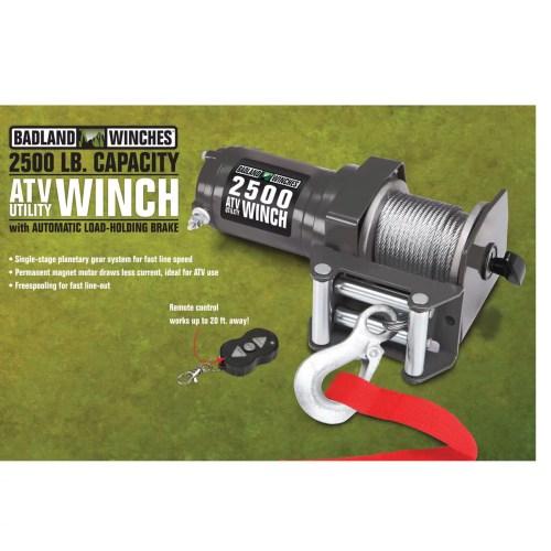 small resolution of badland electric winch 2500 lb atv utility wireless remote control 61840 walmart com