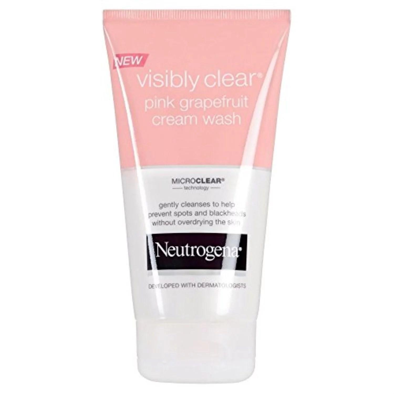 neutrogena visibly clear pink grapefruit cream wash (150ml) - pack of 6 - Walmart.com - Walmart.com
