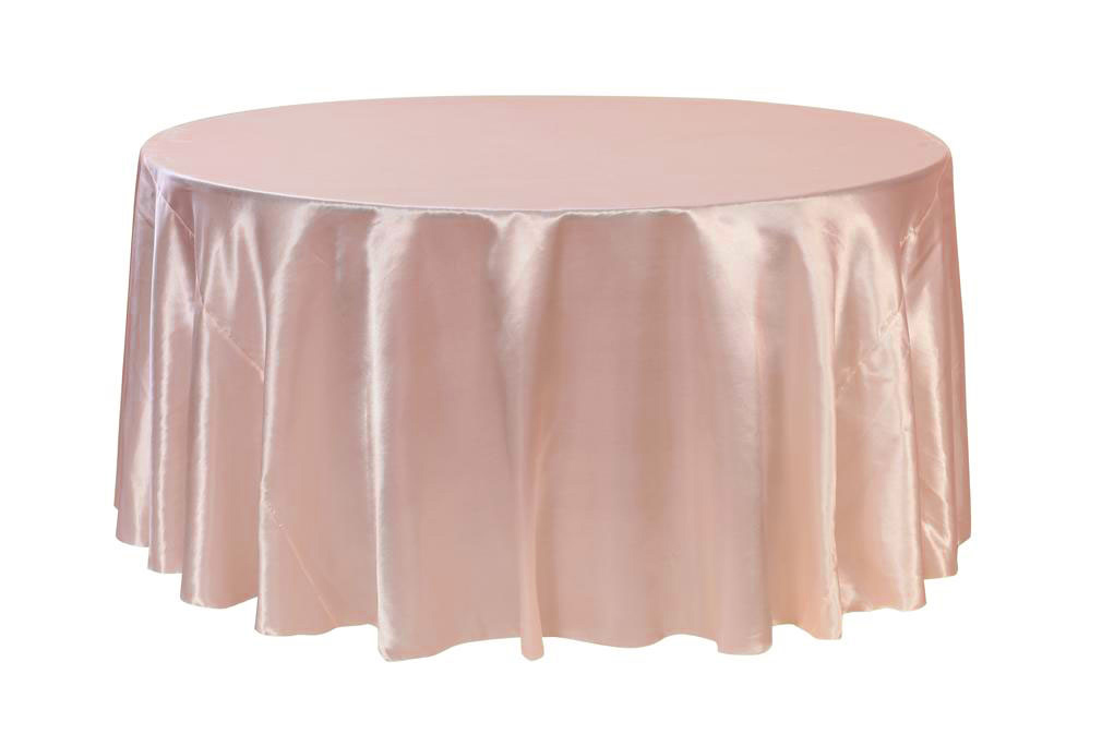 party chair covers walmart wheelchair dimensions your 132 inch round satin tablecloth blush for wedding birthday patio etc com
