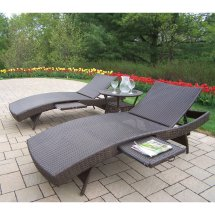 Oakland Living Elite -weather Wicker Chaise Lounge Set