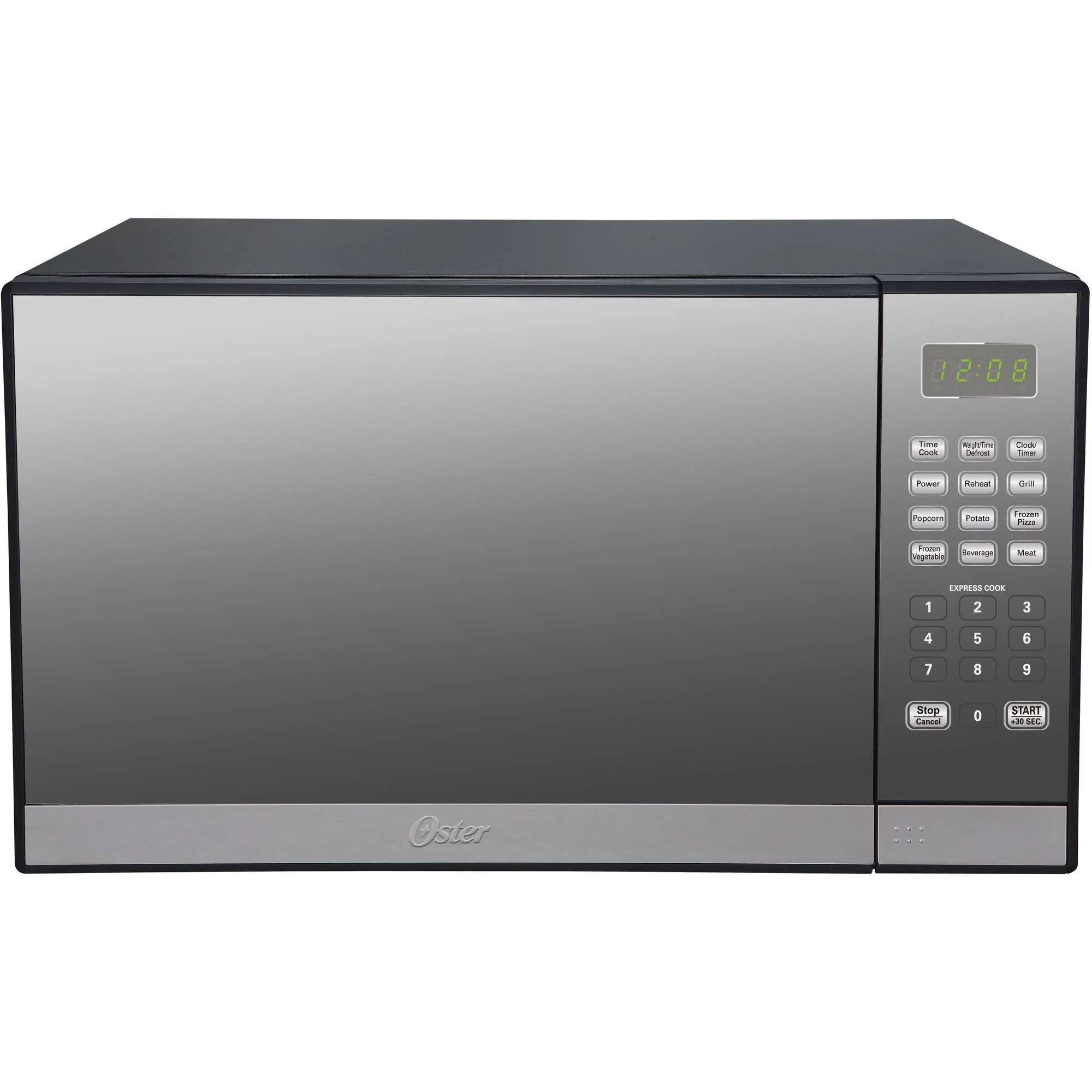 oster 1 3 cu ft stainless steel with mirror finish microwave oven with grill walmart com