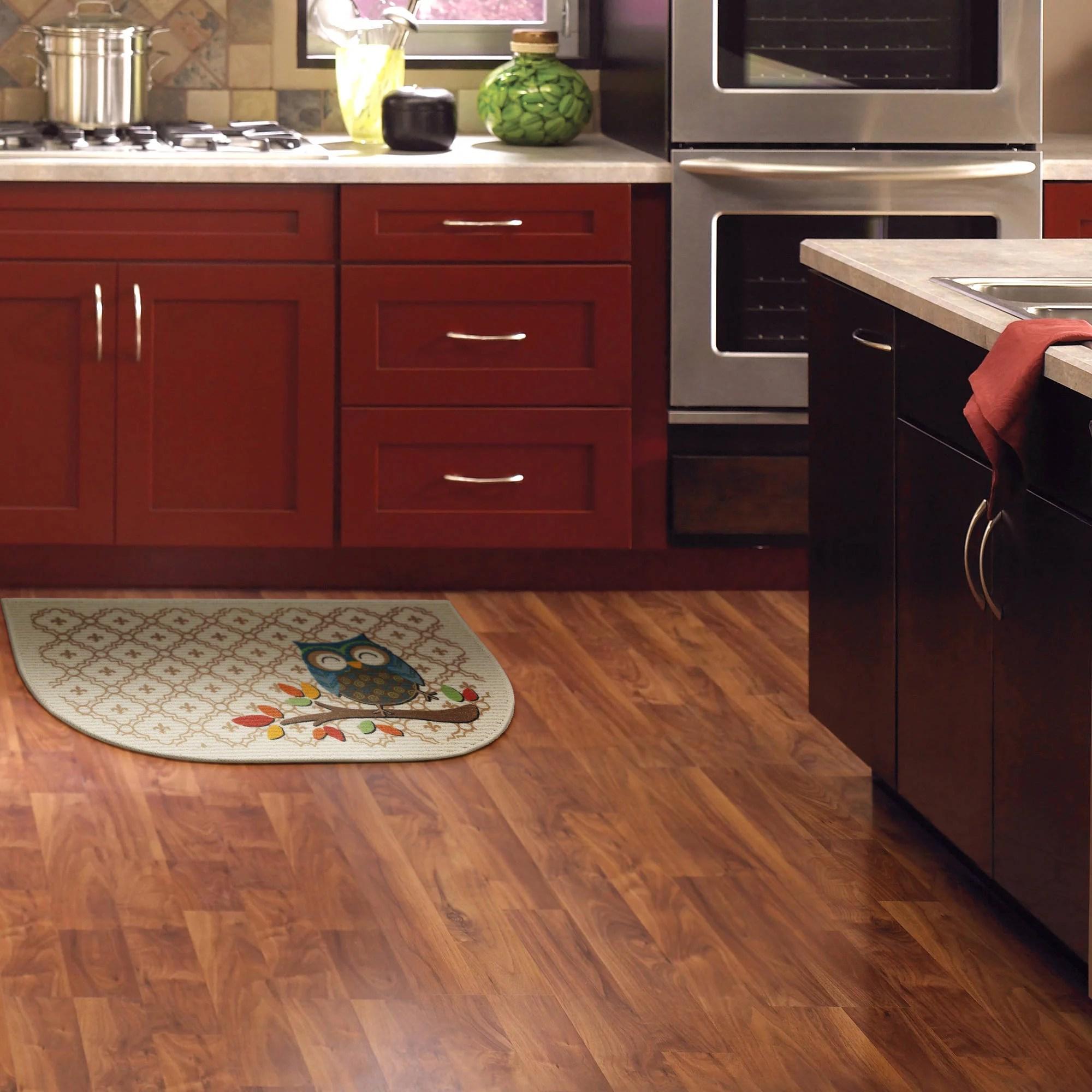 owl kitchen rugs stainless steel sink with drainboard mainstays trellis slice rug walmart com