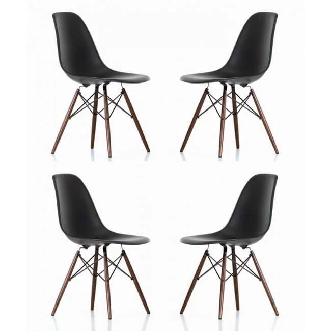 black plastic chair with wooden legs rei flex lite vs helinox dark walnut wood eiffel contemporary retro molded style accent dining