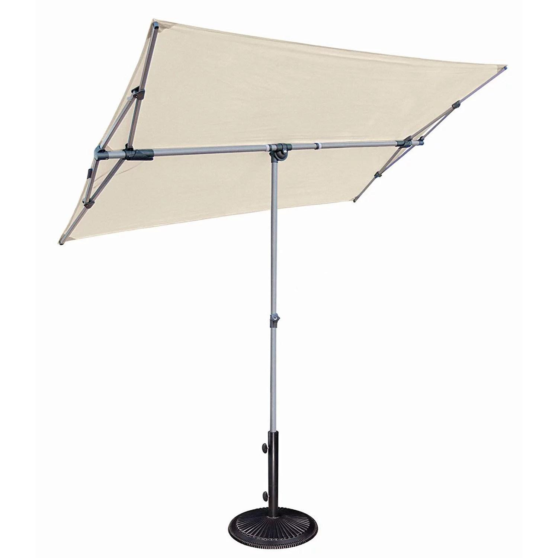 simplyshade capri infinite tilt shade rectangle patio balcony umbrella natural