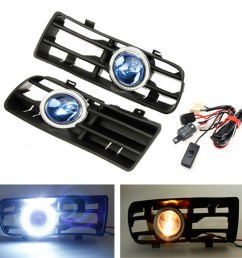 12v led bumper grille fog light daytime running lamp driving running drl fog lamp foglight turn signal indicator white angel eye wiring harness on off  [ 1200 x 1200 Pixel ]