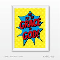 But for the Grace of God Bible Verses Religious Wall Art ...