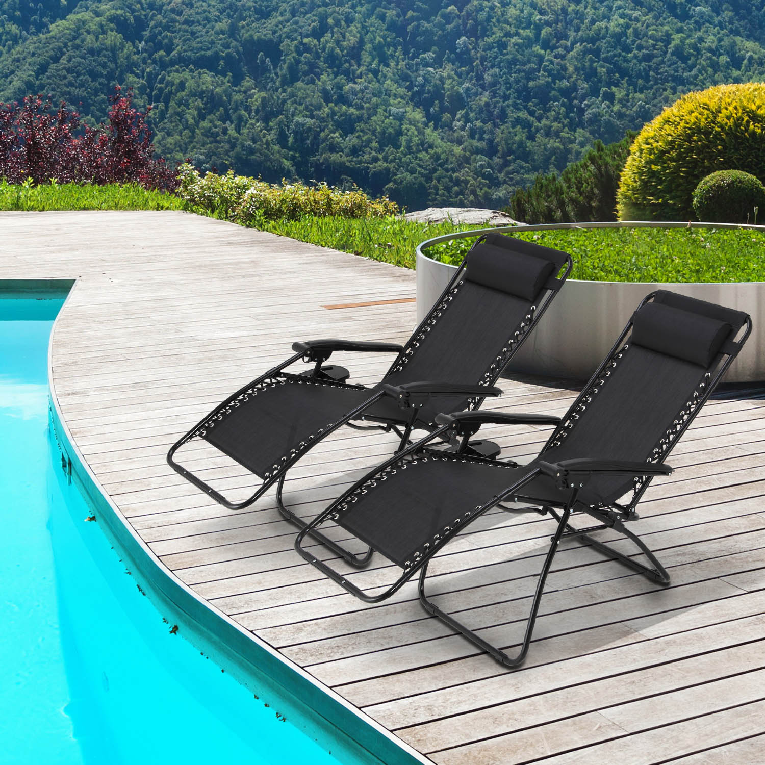 zero gravity chair 2 pack decorative chairs cheap mllieroo folding set of adjustable lounge