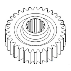 381506R1 New PTO Drive Gear Made to fit Case-IH Tractor