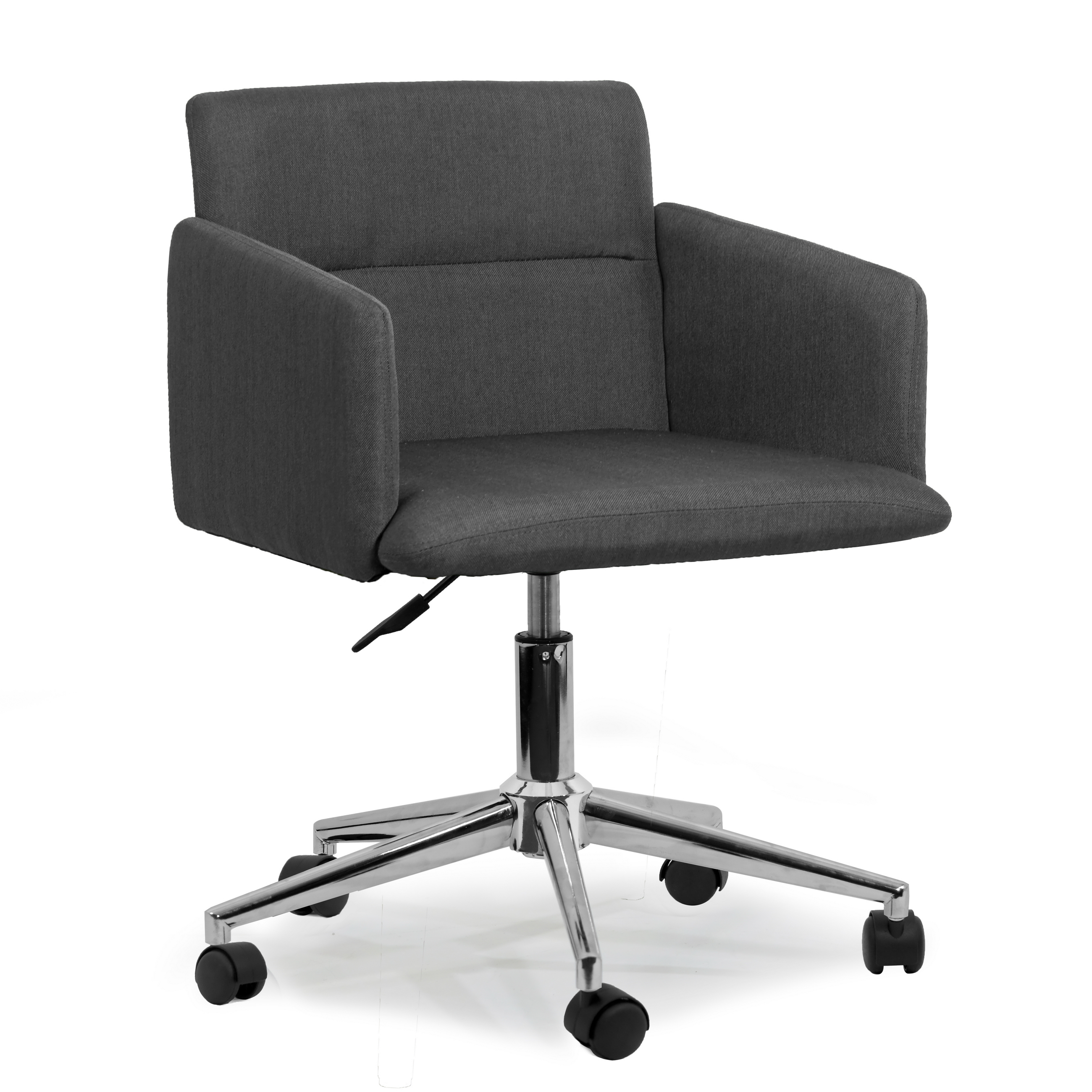 grey fabric swivel office chair ergonomic mesh uk aila dark with wheel base