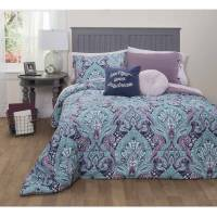 Formula Mia Damask Bed-in-a-Bag Bedding Set, Queen ...