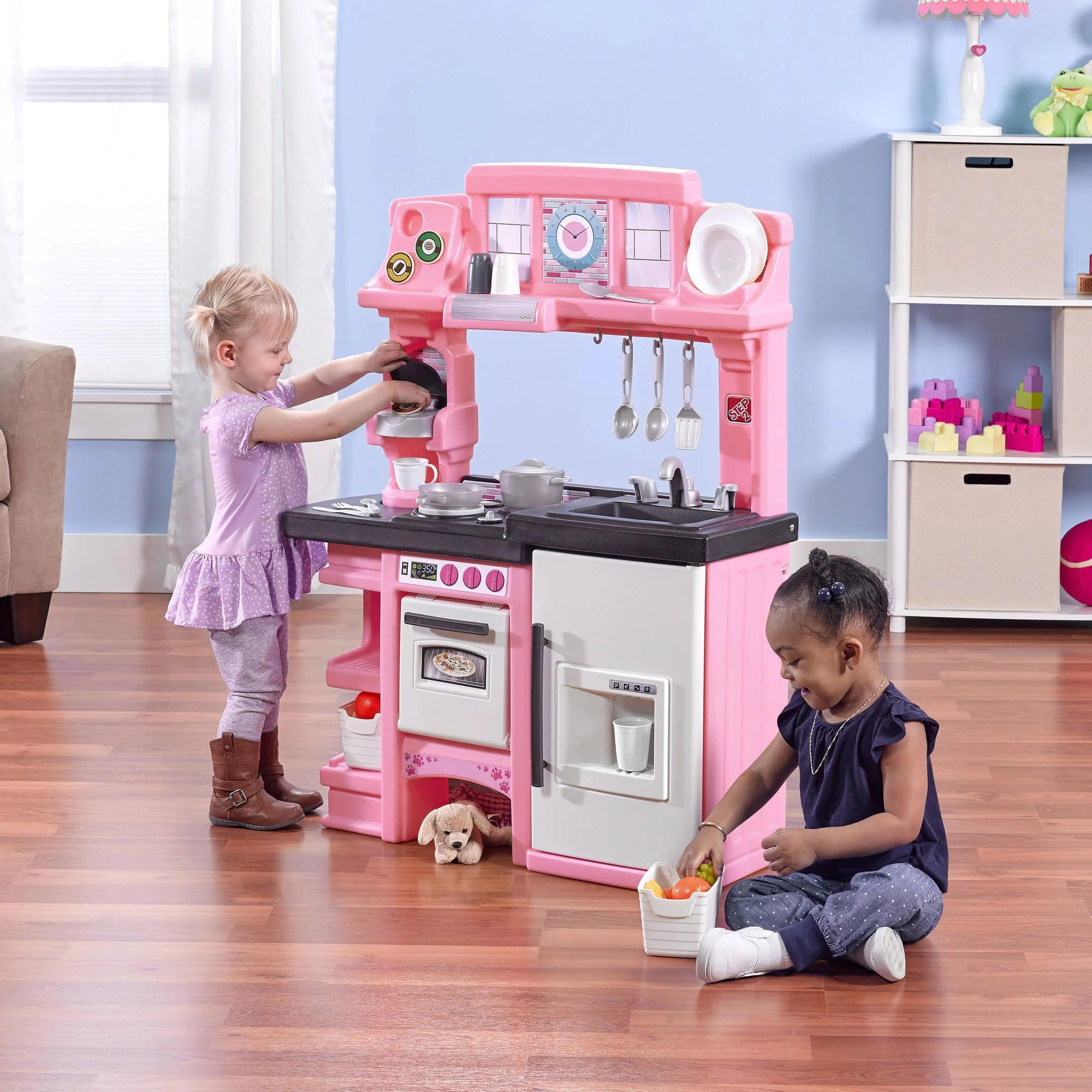 kitchen set for girl modular outdoor kitchens lowes american plastic toys cookin walmart