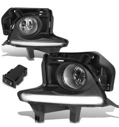 for 14 16 toyota highlander driving fog light bumper bezel cover w led drl wiring harness black bezel clear lens walmart com [ 1200 x 1200 Pixel ]