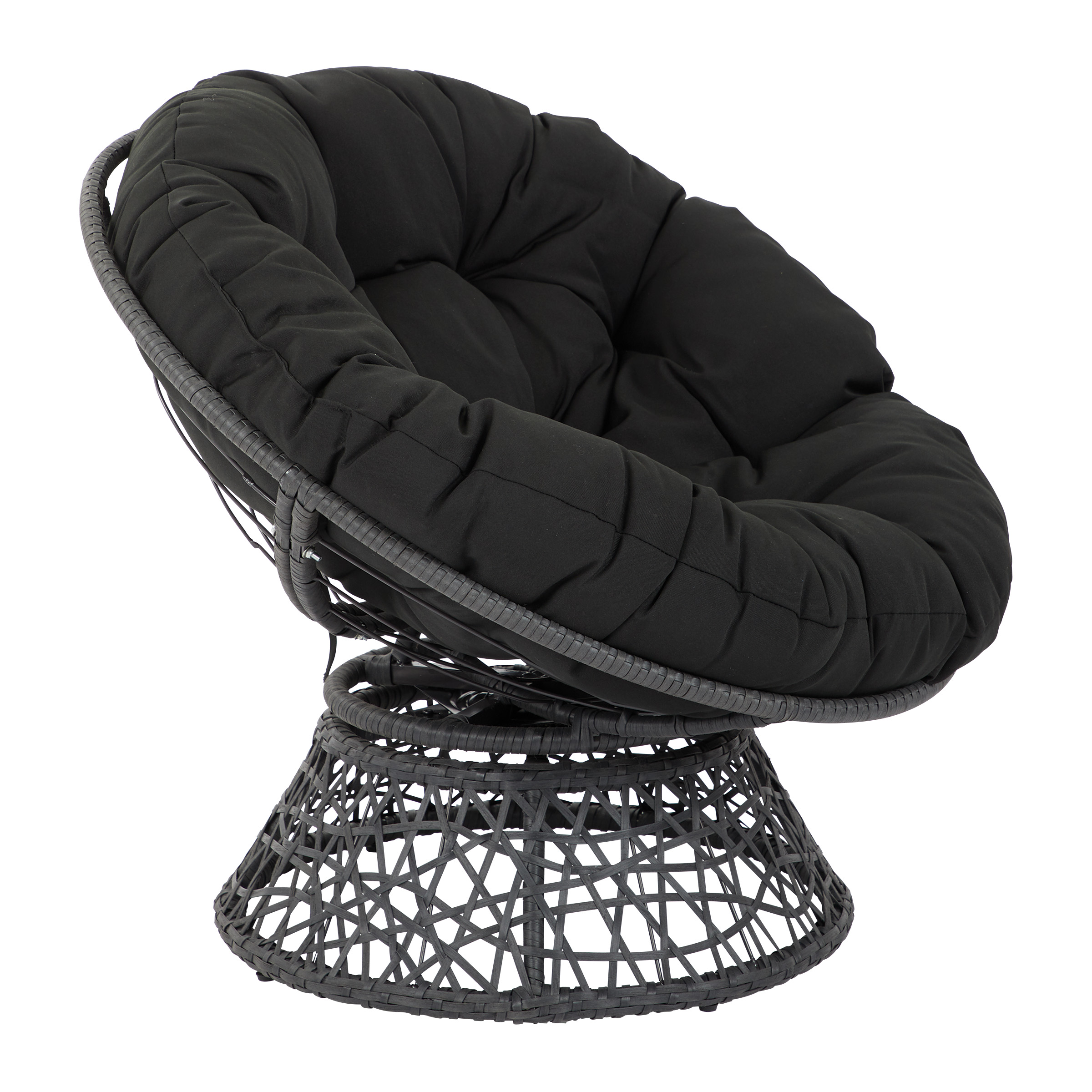 Papasan Chair with Black cushion and Black Frame  Deal