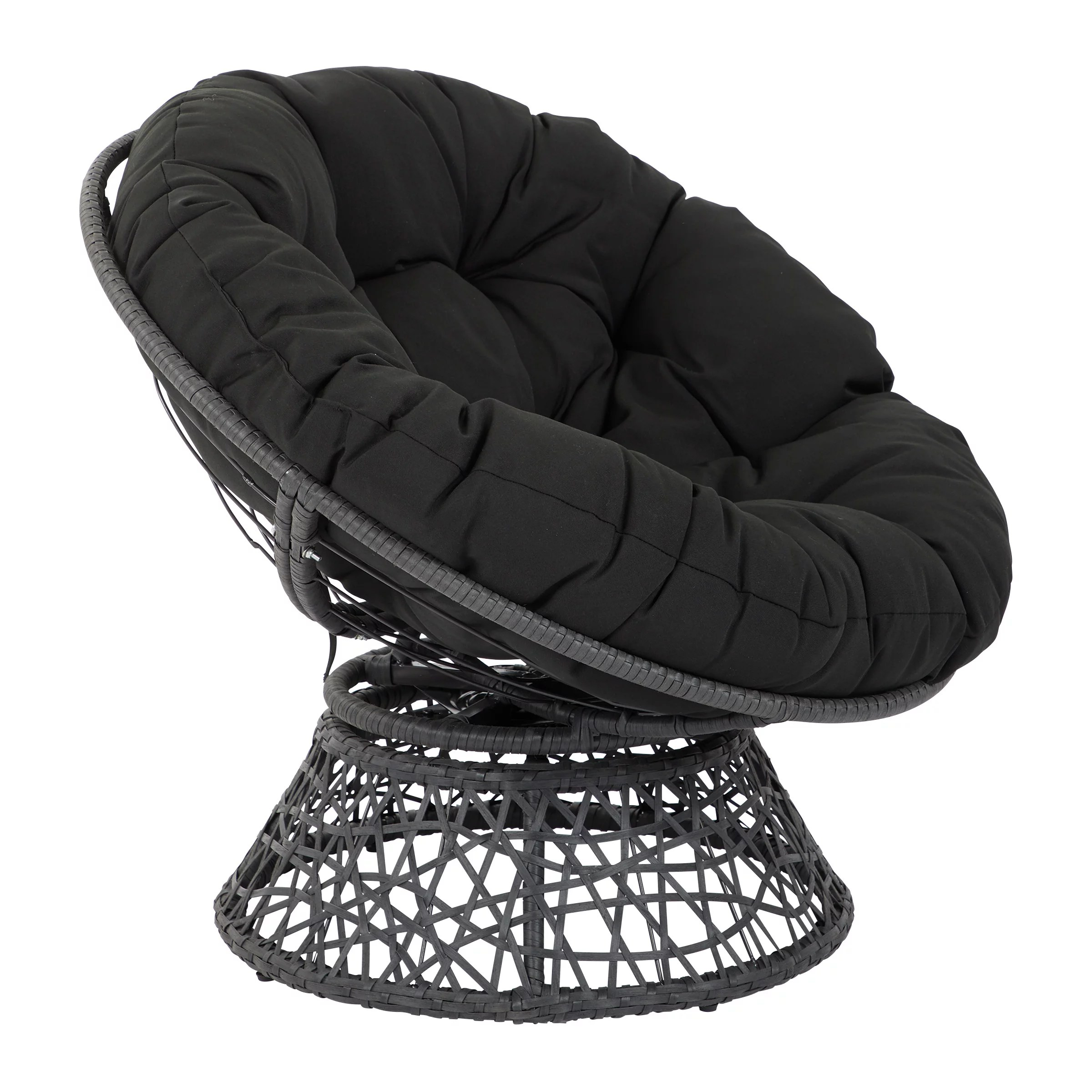 Papasan Chair with Black cushion and Black Frame  Walmartcom