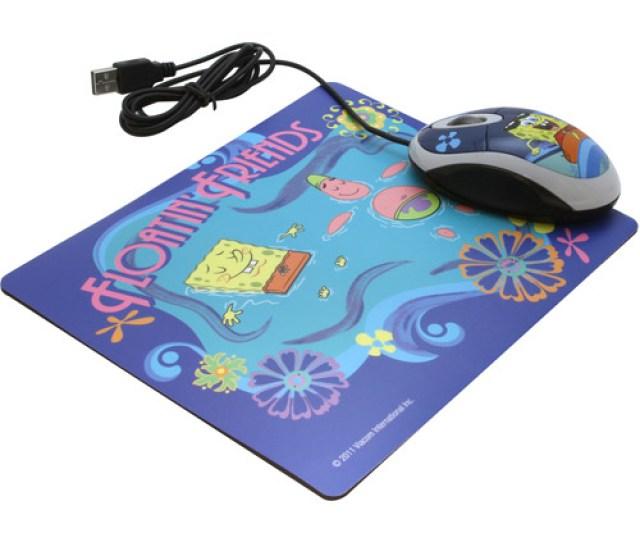 Sakar Spongebob Squarepants Mouse And Mouse Pad Set