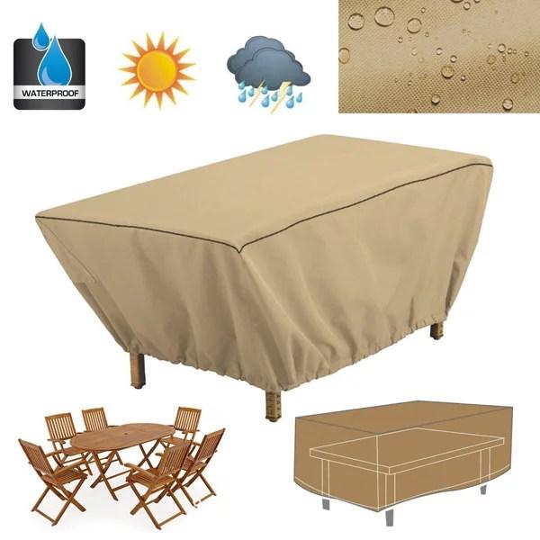 48 rectangular patio table cover garden outdoor furniture rain dust protection