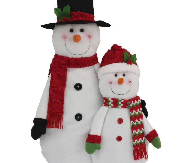 Holiday Time Christmas Decor  Snowman Red Scarf Decoration Walmart Com
