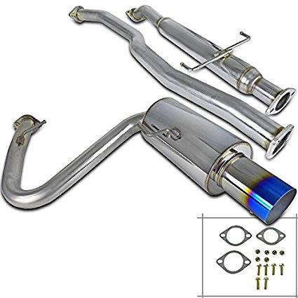 spec d tuning mfcat2 tc05t sd scion tc 2 5 inlet ss titanium burnt tip catback exhaust system